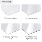 Shipping and Labels Paper Types
