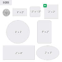Shipping and Labels Sizes