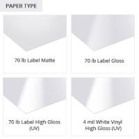 Water Bottle Label Paper Types