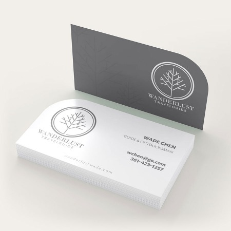 Single Rounded Corner Business Cards