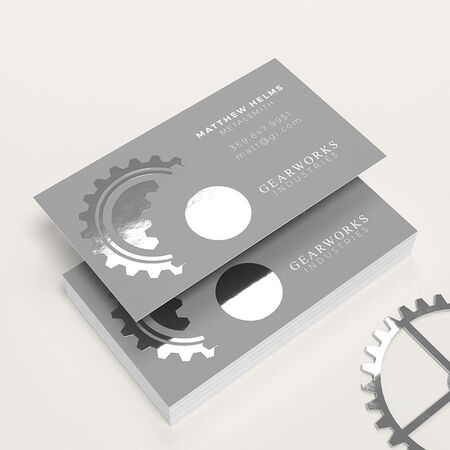 Foil Business Card Printing Metallic