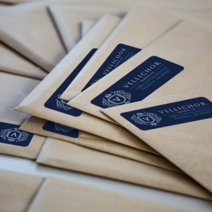 address labels on envelopes
