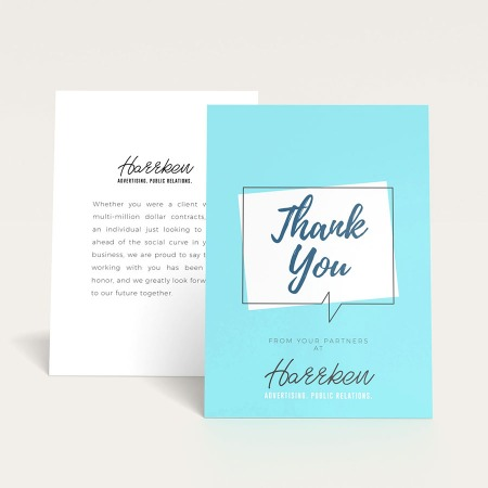 Flat Thank You Cards Print