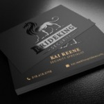 Raised Spot UV Business Cards