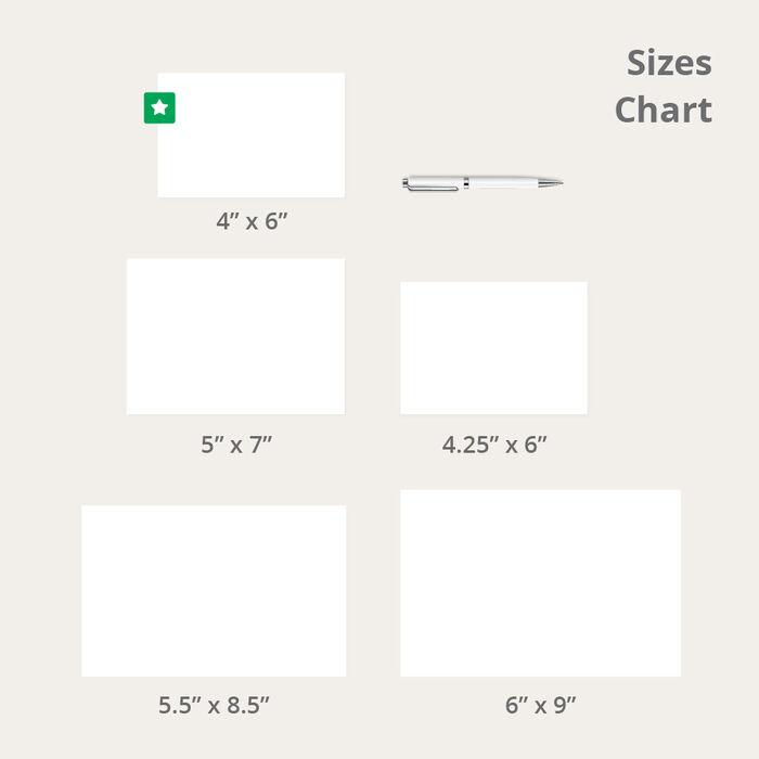 Стандартный размер открытки - сложенные открытки