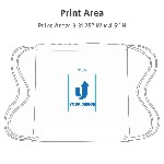 Clear Game Drawstring Backpack Print Area