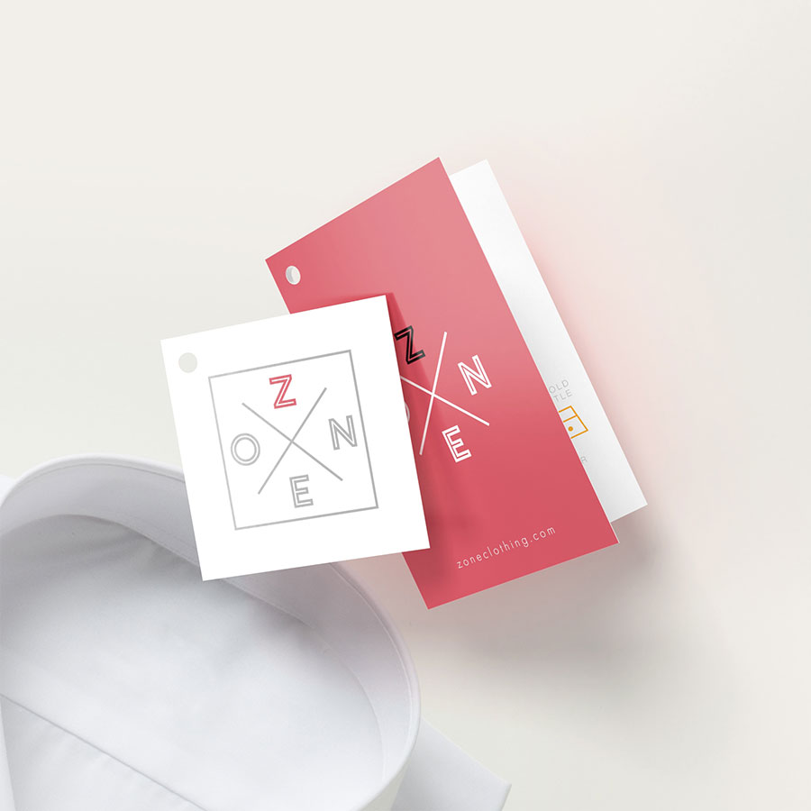 Pink Oval Designer Print Merchandise Strung Price Tags