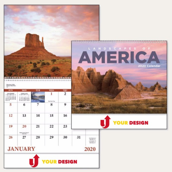 Landscapes of America English - Spiral