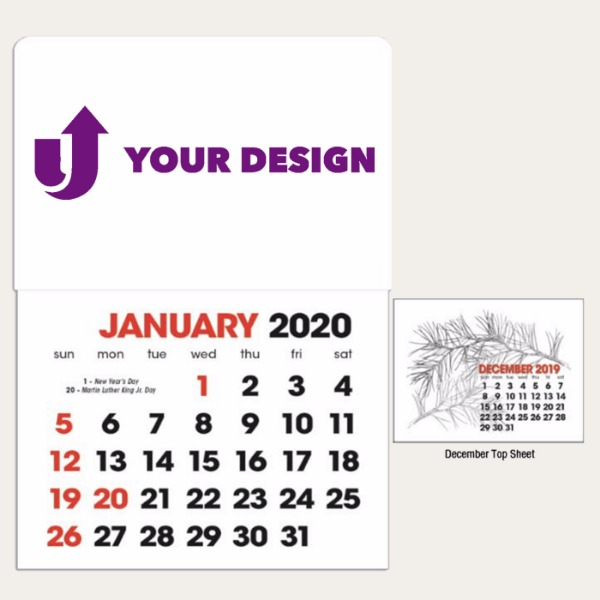 2-Color Stick Up Grid, English (13-Month)
