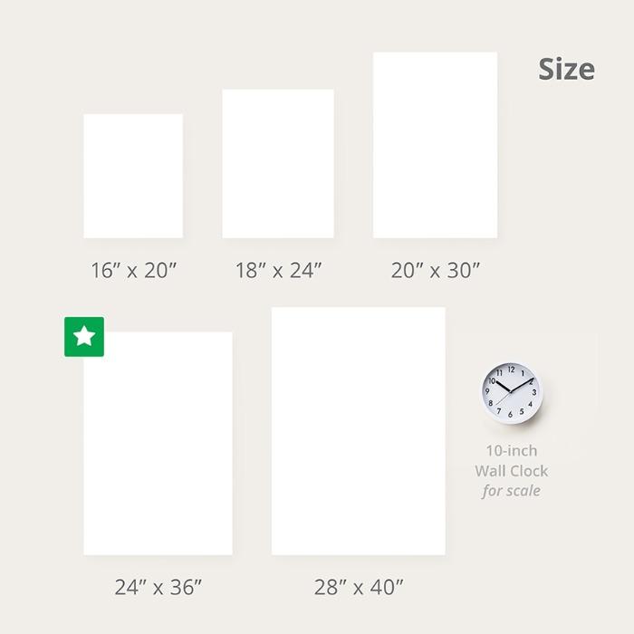 wall vinyl size comparison