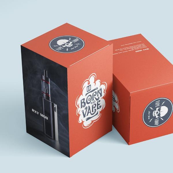 vape cartridge bottle packaging box red color