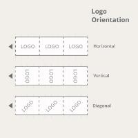 1-Color Gummed Tape Logo Orientation