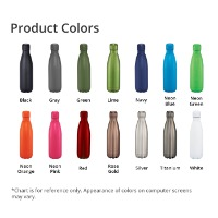 Copper Vacuum Insulated Bottle 17oz Product Colors