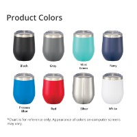 Corzo Copper Vacuum Insulated Cup 12oz Product Colors