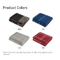 Plaid Fleece Sherpa Blanket Product Colors