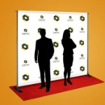 Step and Repeat Banner with Logo