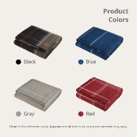 Plaid Fleece Sherpa Blanket Product Colors