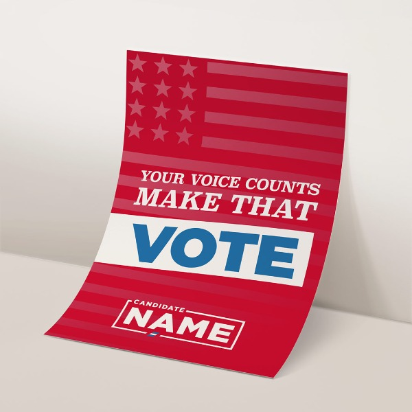 Large format political posters