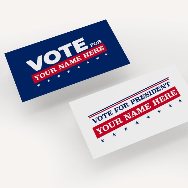 Campaign Business Cards in Standard Size
