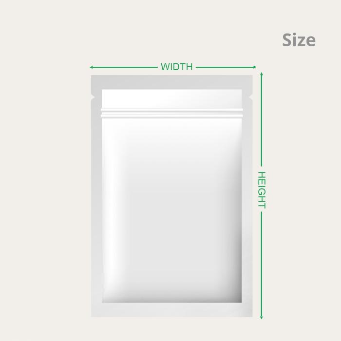flat pouch sizes