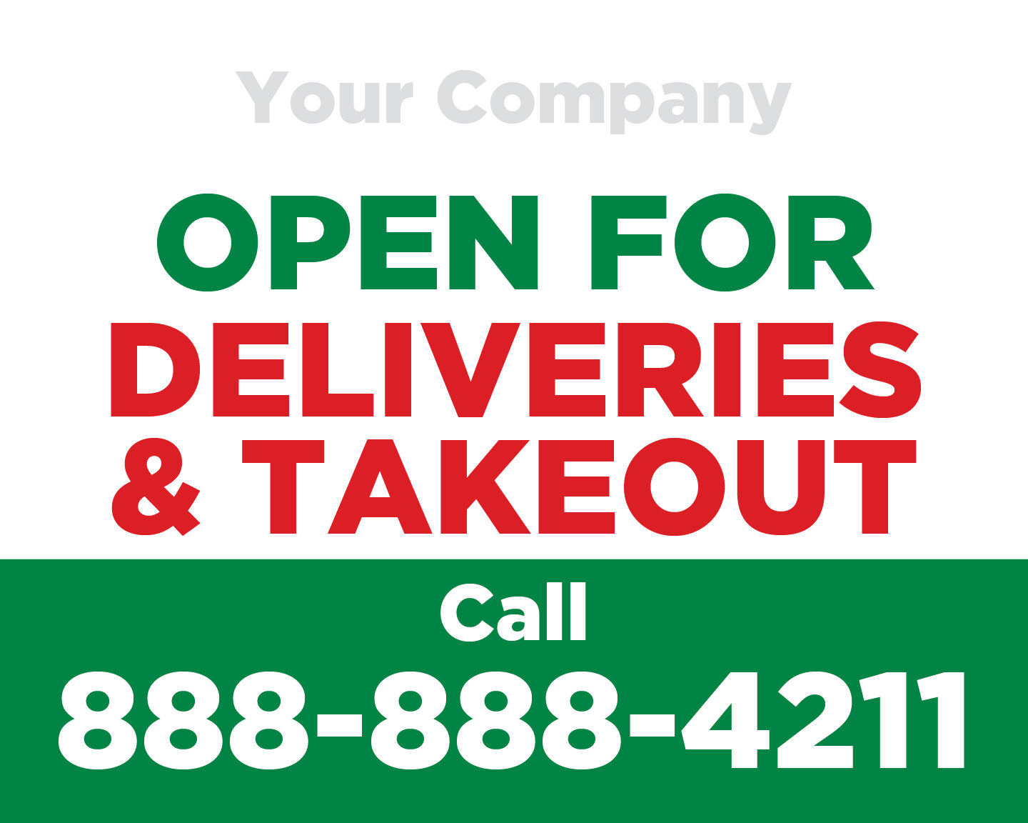 Open for Deliveries Window Clings