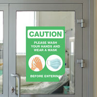 Window Decal Warning SIgn