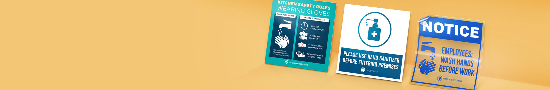 handwashing signs banner