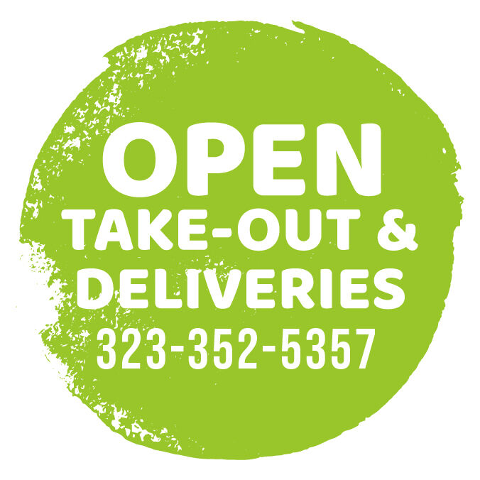 Open for Takeout and Deliveries Stickers