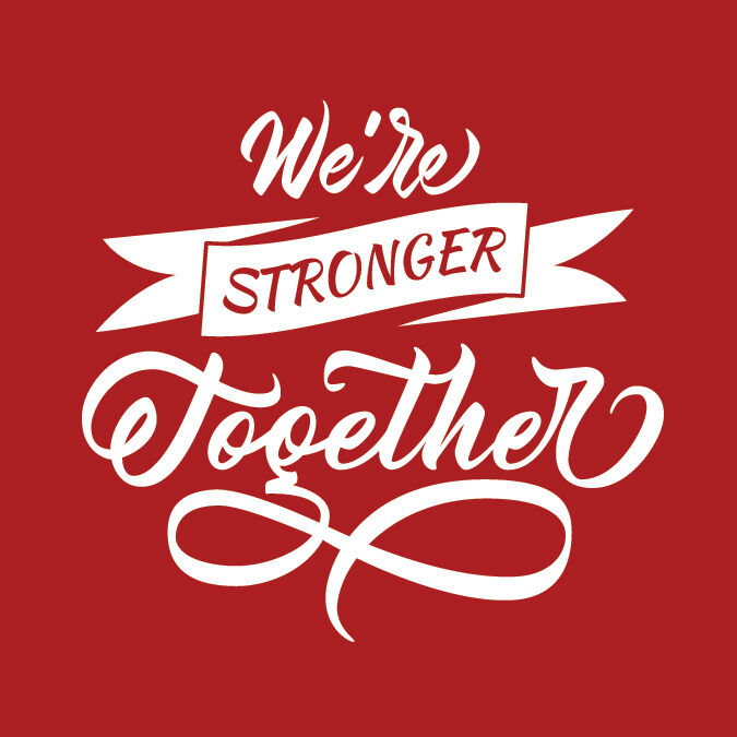 Were In this Together Square Sticker