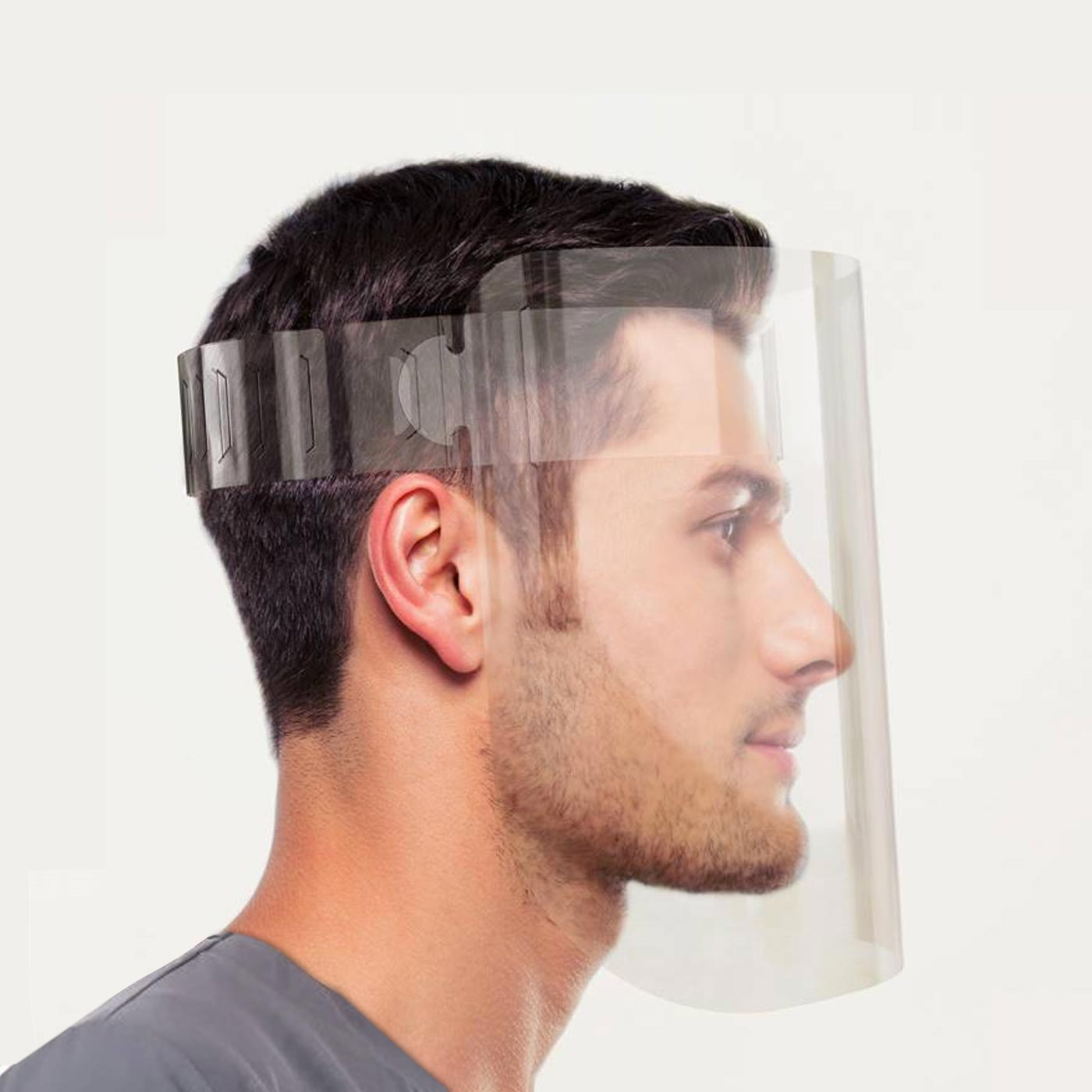 Protective Face Shields Side View