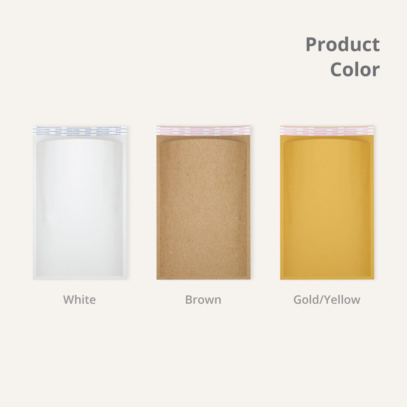 Kraft Bubble Mailers Colors