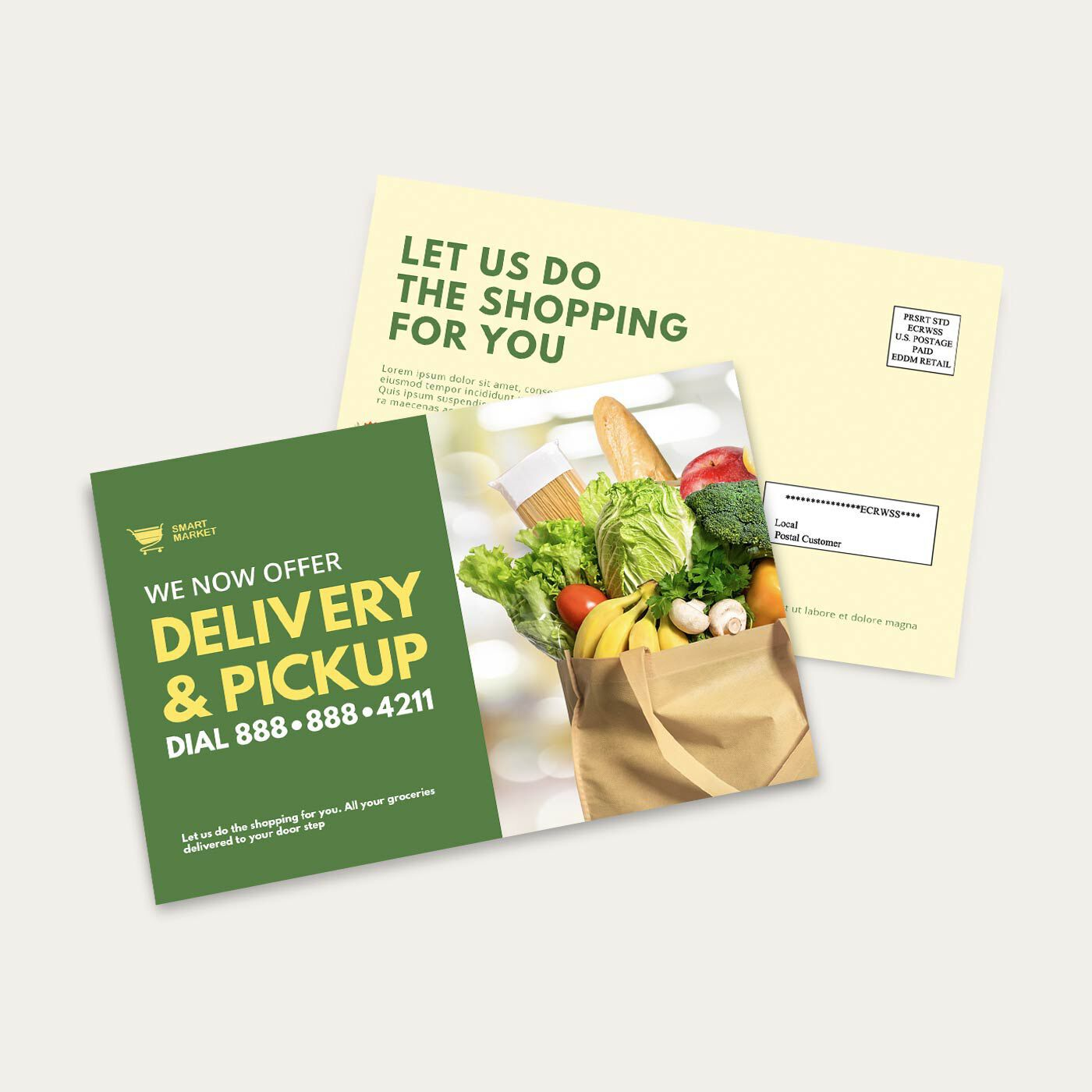 EDDM Postcard - Delivery and pickup