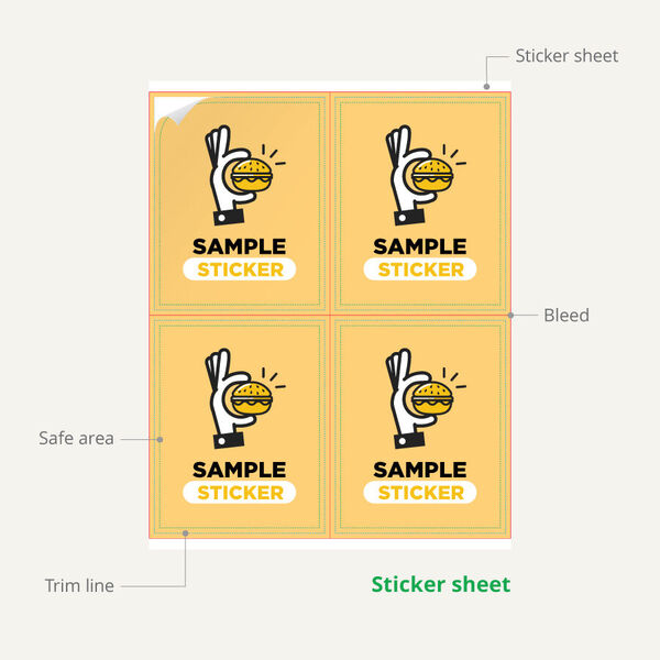 Sample Sticker Sheet Infographic