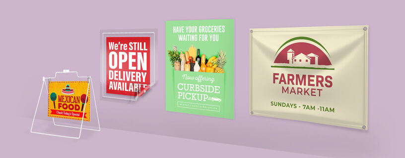 Collection of Outdoor Signs