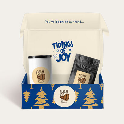 holiday blue mailer gift boxes