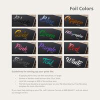 Custom Foil and Embossed Labels Foil Color