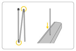 Step 2: Support poles