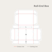 Roll-End Boxes Dieline