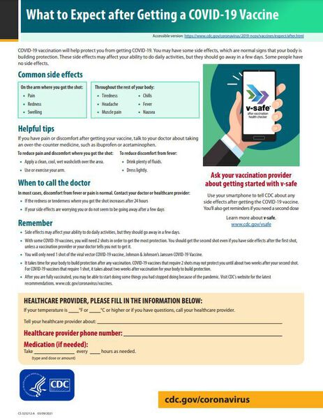 cdc vaccine fact sheet