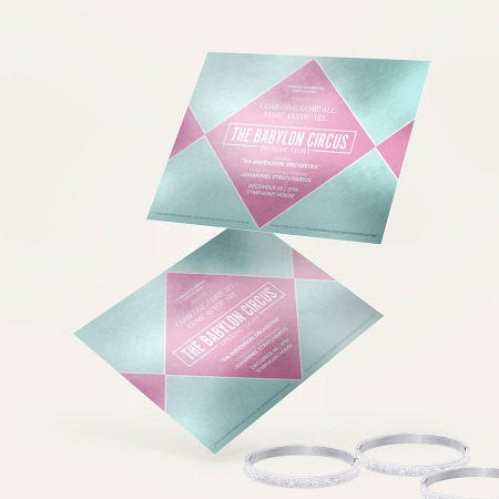 Metallic Flat Invitation Printing