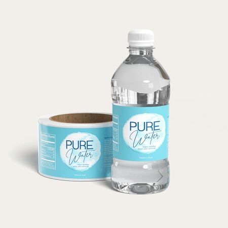 Water Bottle Labels as a marketing material